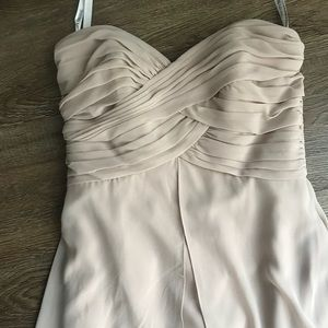 David's Bridal Bridesmaid Dress- Biscotti
